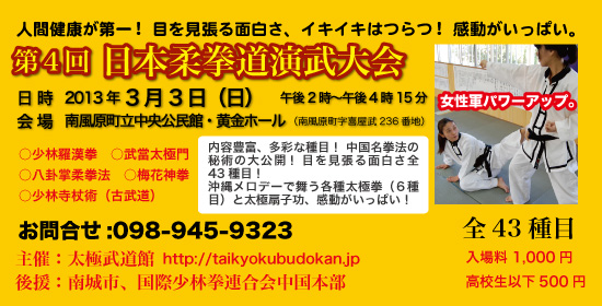 第4回に本柔拳道演武大会
